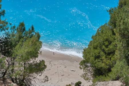 Gialos beach at the island of Lefkada in Greece Stock Photo