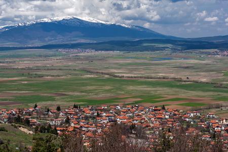 Panoramic view of village Belchin,  Sofia Province, Bulgaria