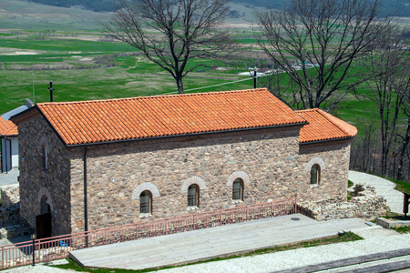 Church in the Ancient fortress Tsari Mali grad, Sofia Province, Bulgaria Stock Photo
