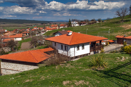 Panoramic view of village Belchin,  Sofia Province, Bulgaria