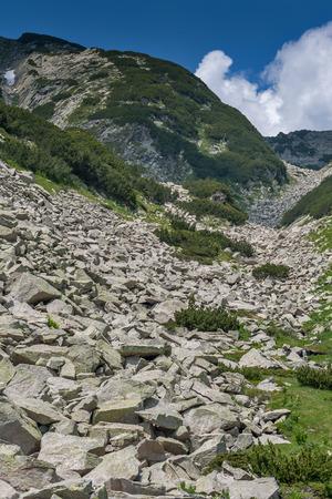 The steep slopes of the Pirin Mountain, Bulgaria