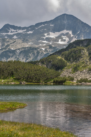 Mountain River and Banski Suhodol Peak, Pirin Mountain, Bulgaria Stock Photo