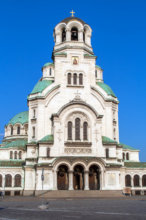 The Alexander Nevsky Cathedral in Sofia, Bulgaria Editorial