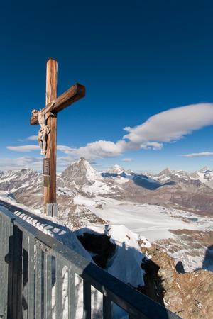 matterhorn glacier paradise in switzerland Alps Stock Photo