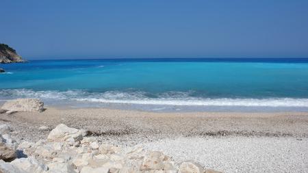 cefalonia: Amazing seascape of Myrtos beach, Kefalonia, Ionian islands, Greece