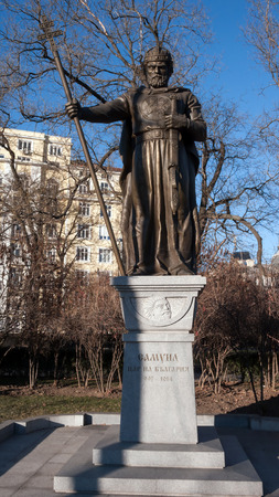 tsar: SOFIA, BULGARIA - DECEMBER 20 2016:  Monument of bulgarian Tsar Samuel, Sofia, Bulgaria Editorial