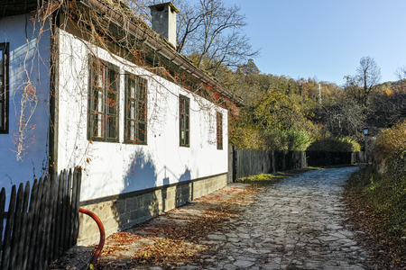 Autumn view of Architectural and historical reserve of village of Bozhentsi, Gabrovo region, Bulgaria Stock Photo