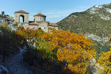 ASENOVGRAD, BULGARIA - 1 OCTOBER 2016: Autumn view of Asens Fortress, Asenovgrad, Plovdiv Region, Bulgaria