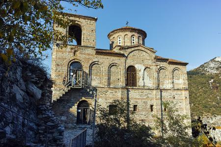 assen: ASENOVGRAD, BULGARIA - 1 OCTOBER 2016: Autumn view of Asens Fortress, Asenovgrad, Plovdiv Region, Bulgaria