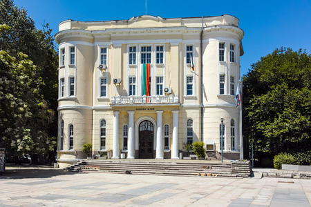 PLOVDIV, BULGARIA - JUNE 10, 2017: Building of Military Club in city of Plovdiv, Bulgaria Editorial