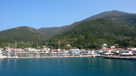 SAMI, KEFALONIA, GREECE - SEPTEMBER 8, 2012: Amazing view of town of Sami, Kefalonia, Ionian islands, Greece