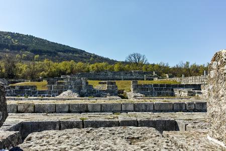 Ruins of capital of the First  Bulgarian Empire medieval stronghold Great Preslav (Veliki Preslav), Shumen Region, Bulgaria