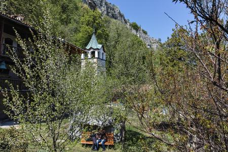 TRANSFIGURATION MONASTERY, VELIKO TARNOVO, BULGARIA - 9 APRIL 2017 : Medieval Orthodox Monastery of the Holy Transfiguration of God, Veliko Tarnovo region, Bulgaria Editorial
