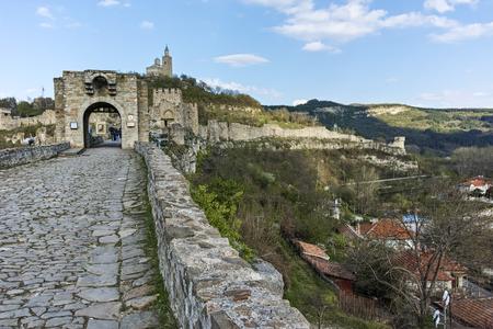 VELIKO TARNOVO, BULGARIA - 9 APRIL 2017: Ruins of medieval Fortress Tsarevets, Veliko Tarnovo, Bulgaria
