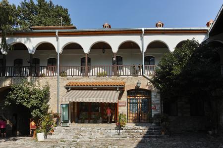 BACHKOVO MONASTERY, BULGARIA - AUGUST 23, 2017:  Ancient Buildings in Medieval Bachkovo Monastery, Bulgaria Editorial