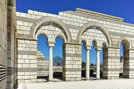 Ruins of The Great Basilica near The capital city of the First  Bulgarian Empire Pliska, Bulgaria Editorial