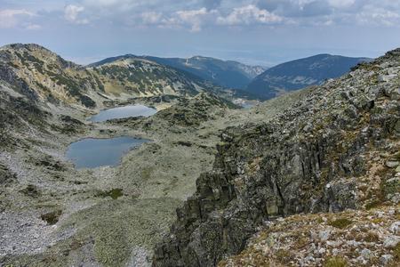 Amazing panorama of Musalenski lakes, Rila mountain, Bulgaria Stock Photo