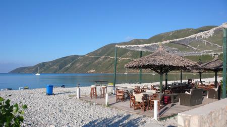 Panoramic view of the bay of Village of Vasiliki, Lefkada, Ionian Islands, Greece Stok Fotoğraf - 92526942