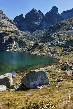 Amazing landscape of The Scary lake, Rila Mountain, Bulgaria