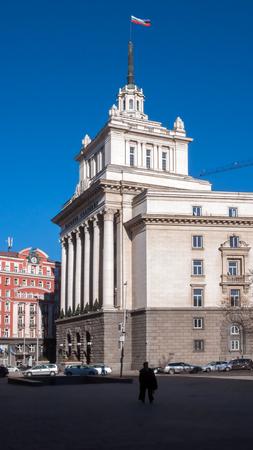 SOFIA, BULGARIA - DECEMBER 20, 2016:  Building of Former Communist Party House in Sofia, Bulgaria Editorial