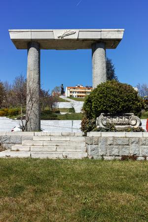SANDANSKI, BULGARIA - APRIL 4, 2018: The statue of Spartacus in town of Sandanski, Bulgaria