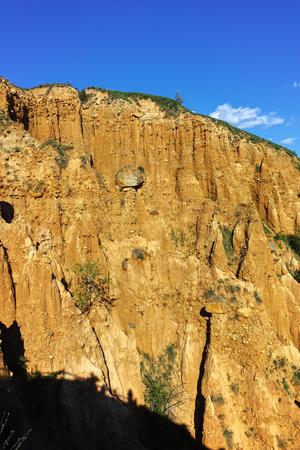 Landscape of rock formation Stob pyramids, Rila Mountain, Kyustendil region, Bulgaria Stock Photo