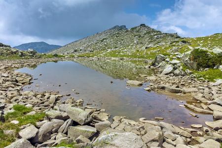 Amazing Landscape of Upper Spanopolsko lake, Pirin Mountain, Bulgaria