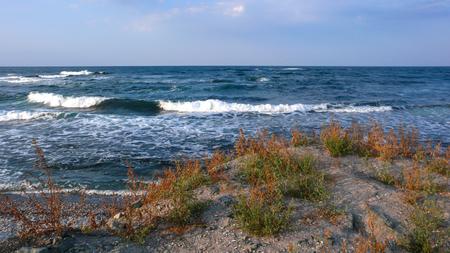 Amazing Sunset Seascape of the coastline of Lozenets, Burgas region, Bulgaria