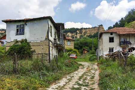 Abandoned houses from the nineteenth century in village of Zlatolist, Blagoevgrad Region, Bulgaria