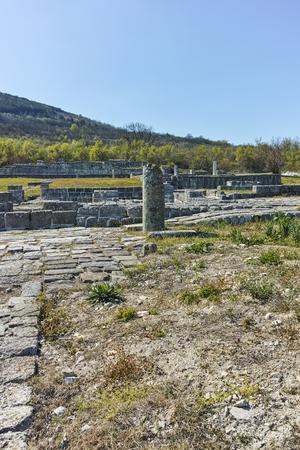 Ruins of medieval city of Preslav, capital of the First Bulgarian Empire, Shumen Region, Bulgaria 写真素材