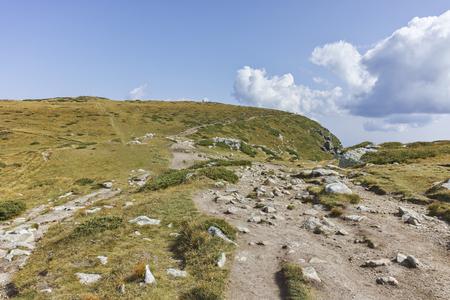 Landscape of Green Hills of Rila Mountain near The Seven Rila Lakes, Bulgaria