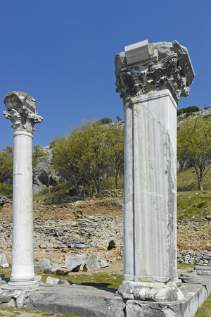 Ruins of the Antique city of Philippi, Eastern Macedonia and Thrace, Greece Reklamní fotografie - 121268949