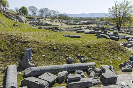 Ruines du site archéologique de Philippes, Macédoine orientale et Thrace, Grèce