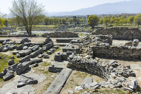 Ruins at archaeological site of Philippi, Eastern Macedonia and Thrace, Greece Фото со стока