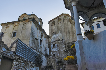 Medieval Monastery of Timiou Prodromou St. John the Baptist near town of Serres, Central Macedonia, Greece