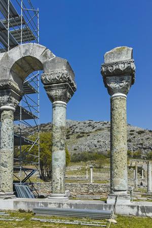 Basilique dans la zone archéologique de l'ancienne Philippes, Macédoine orientale et Thrace, Grèce