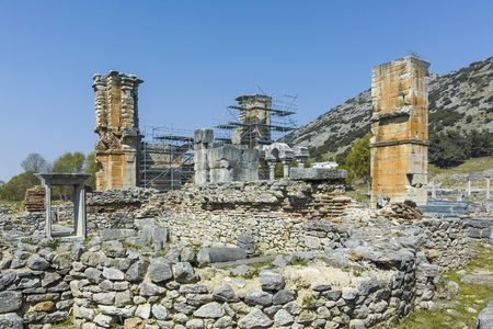 Basilica in the archeological area of ancient Philippi, Eastern Macedonia and Thrace, Greece Banque d'images - 123113709