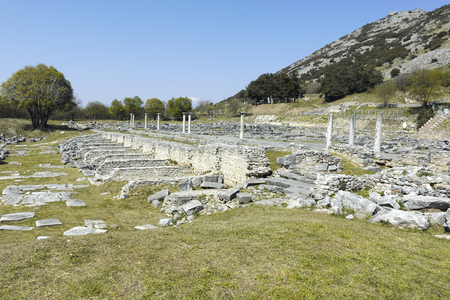 Ancient Ruins at archaeological site of Philippi, Eastern Macedonia and Thrace, Greece Banque d'images - 123113719