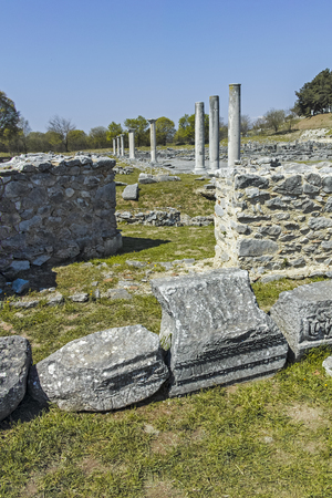 Ancient Ruins at archaeological site of Philippi, Eastern Macedonia and Thrace, Greece Banque d'images - 123113726