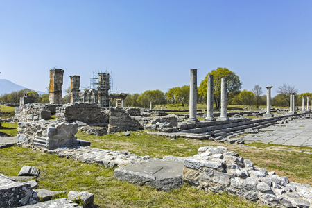 Ancient Ruins at archaeological site of Philippi, Eastern Macedonia and Thrace, Greece Banque d'images - 123113728
