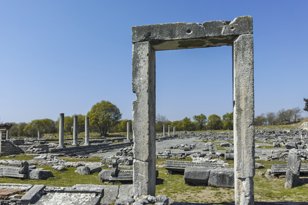 Ancient Entrance at archaeological site of Philippi, Eastern Macedonia and Thrace, Greece Banque d'images - 123113730