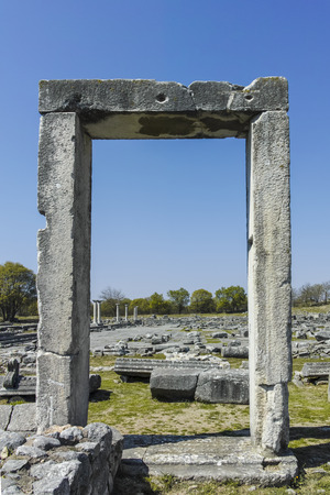 Ancient Entrance at archaeological site of Philippi, Eastern Macedonia and Thrace, Greece Banque d'images - 123113732