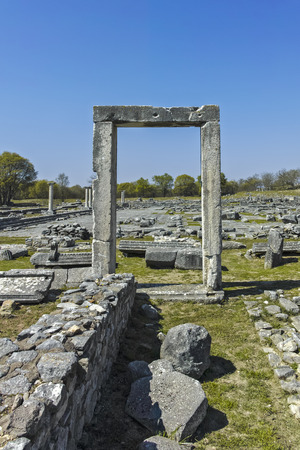 Ancient Entrance at archaeological site of Philippi, Eastern Macedonia and Thrace, Greece Banque d'images - 123113734