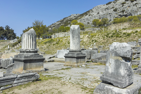 Ancient Ruins at archaeological site of Philippi, Eastern Macedonia and Thrace, Greece Banque d'images - 123113821