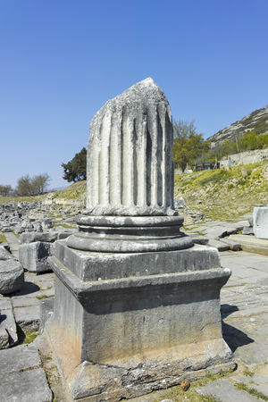Ancient Ruins at archaeological site of Philippi, Eastern Macedonia and Thrace, Greece Banque d'images - 123113822