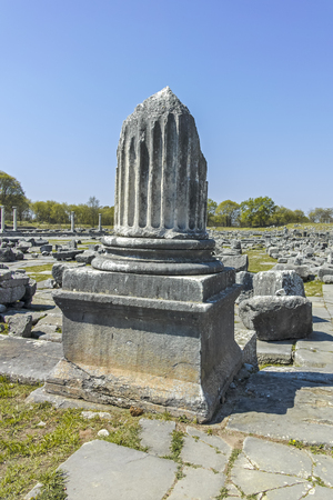 Ancient Ruins at archaeological site of Philippi, Eastern Macedonia and Thrace, Greece Banque d'images - 123113825