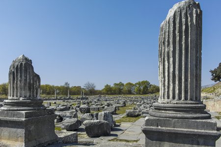 Ancient Ruins at archaeological site of Philippi, Eastern Macedonia and Thrace, Greece Banque d'images - 123113827