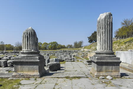 Ancient Ruins at archaeological site of Philippi, Eastern Macedonia and Thrace, Greece Banque d'images - 123113828