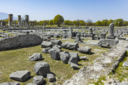 Ancient Ruins at archaeological site of Philippi, Eastern Macedonia and Thrace, Greece Banque d'images - 123113829