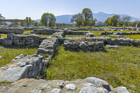 Ancient Ruins at archaeological site of Philippi, Eastern Macedonia and Thrace, Greece Banque d'images - 123113830